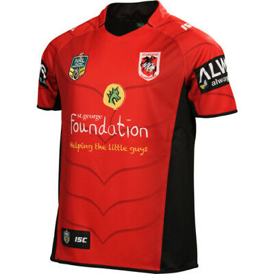 St George Illawarra Dragons 2014 Nrl Mens Charity Shield Jersey New With Tags