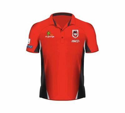 St George Illawarra Dragons 2017 Nrl Mens Performance Polo Shirt New With Tags
