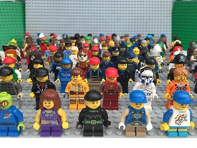 Lego Minifigures x 10 With Hat Hair Or Accessory Figures Mini Figures Job Lot