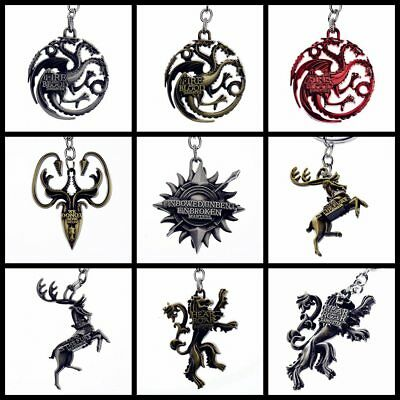 Game of Thrones House Series Keychain Metal Key Chain Keyring Gift New