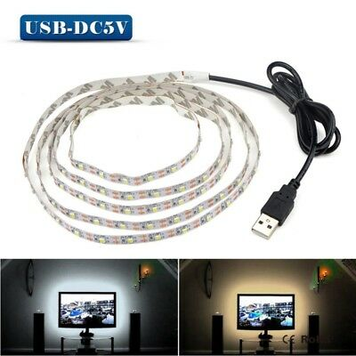 1M 2M 4M 5M LED Strip Lights Warm Cool White 5V Waterproof Camping Cable Light