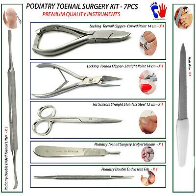 Podiatry Toenail Removal Ingrown Cuticle Surgical Instruments Pedicure Pack New