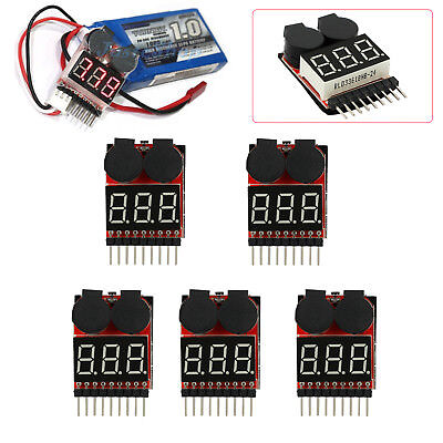 5× RC Lipo Alarm Piezo Tester Low Voltage Meter Buzzer Checker Warner Spannung