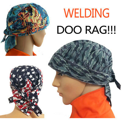 AP-661148 Washable Cotton Welding Doo Rag Skull Cap Bandana Hard Hat Liner