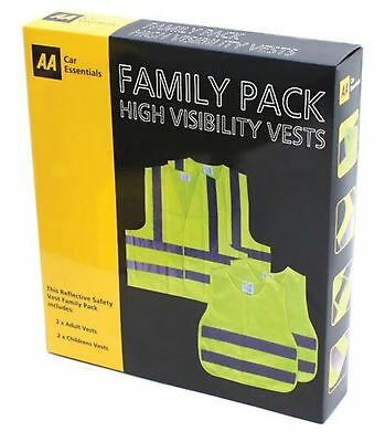 AA Family Pack High Visibility Safety Vests A Car Essential