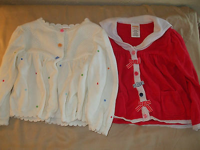 Gymboree Girls 12-18 Months Sweaters PINK & WHITE w/ Polka Dots