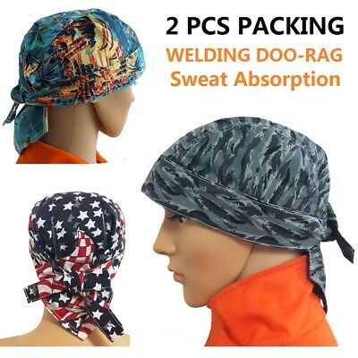 AP-6611-2 Washable Cotton Welding Welder Cap Doo Rag Skull Cap Bandana | 2Pcs