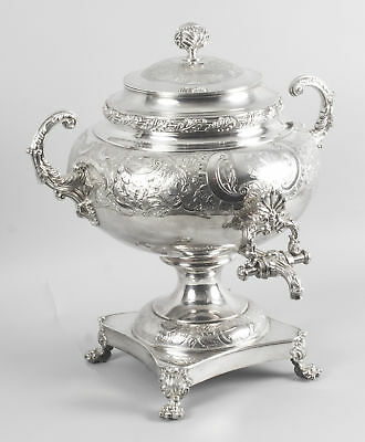 Antique English Regency Old Sheffield Silver Plate Samovar  C1830
