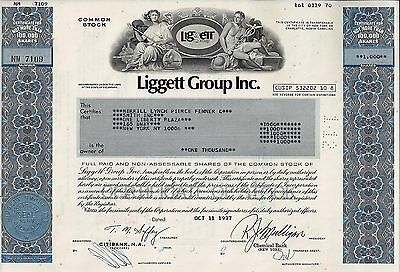 Liggett Group Inc., Delaware, 1977 (1.000 Shares) - L & M Zigaretten