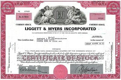 Liggett & Myers Incorporated 1974- L & M Zigaretten (5 Shares)