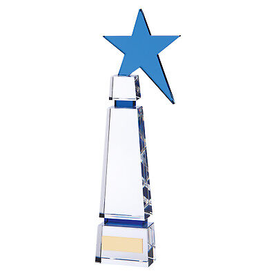 Boston Crystal Star Trophies Achievement Awards 2 sizes FREE Engraving