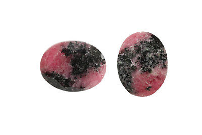 Natural Semiprecious Rhodonite Oval Cut Gemstone Faceted Wholesale Custom New