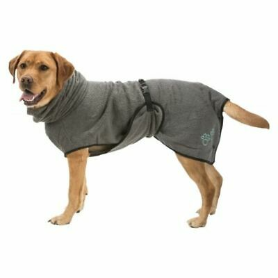 TRIXIE Dog Puppy Drying Microfibre Bathrobe Towel - After Walking, Bathing Gown