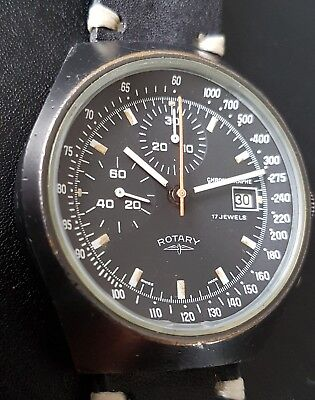 Vintage Rotary Valjoux 7765 Racing Ralleye  Grand Prix Carrera Chronograph