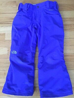 The North Face Hyvent Snow Board Ski Pants Youth Girl S/p 7/8 Ez Grow