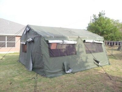 MILITARY TENT - 16x16 - Light weight, expandable, Frame Type, NEW IN ...