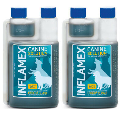 Canine Inflamex Solution from Cortaflex 2 x 473ml Twin Pack