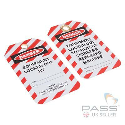 Lockout Tagout Tags - 'Equipment Locked Out...' - Pack of 10