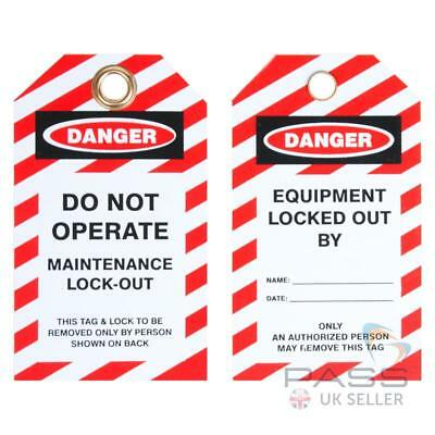 Lockout Tagout Tags - 'Do Not Operate, Maintenance' - Pack of 10
