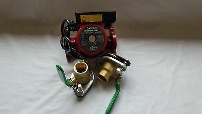 """3 speed Circulating Pump With Cord 20 GPM with (2) 1 1/4"""" Flanged Ball Valves"""