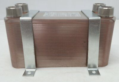 """Water to Water Brazed Plate Exchanger 50 Plate 1""""MPT w/NEW STYLE BRACKETS"""