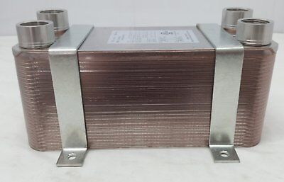 "Water to Water Brazed Plate Heat Exchanger 50 Plate 1""FPT w/NEW STYLE BRACKETS"
