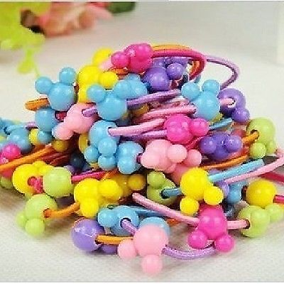 wholesale / joblot of 60 childrens mickey mouse hair bobbles party bag favours