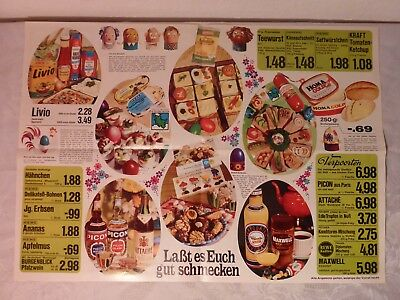 Altes Prospekt Rewe Eurogroup Supermarkt Retro Vintage Ca 1960 1980