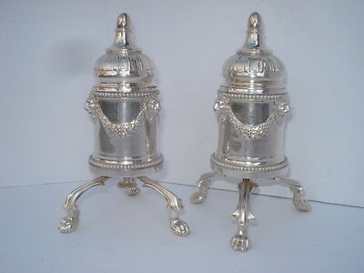 Pair Of Odiot NeoClassical Silver (950 Minerva) Pepper Mills Circa:1820's