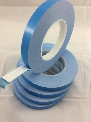 5 X rolls DOUBLE SIDED FOAM TAPE 16mmX10meters 1mm thick STRONG DIY/TRADE/CRAFT