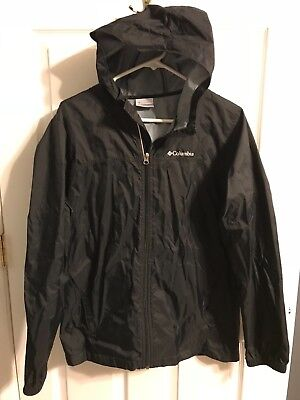 COLUMBIA Rain Jacket - Black - Youth XL - EXCELLENT Condition!