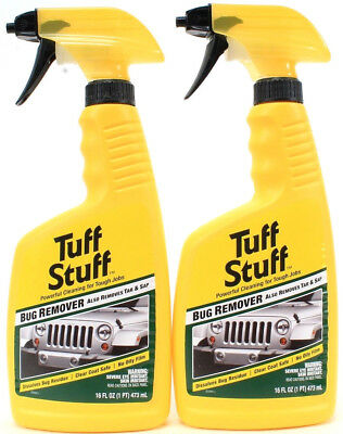 2 Tuff Stuff Bug Tar & Sap Remover Clear Coat Safe Leaves No Oily Film 16oz
