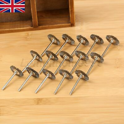 20Pcs Stainless Wire Wheel Polishing Brushes Die Grinder Power Rotary Tool HQ