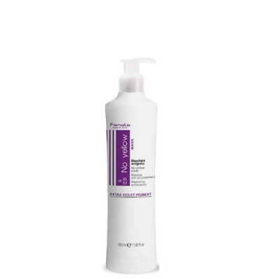 Fanola No Yellow Mask Conditioner for Blonde Grey Hair 350ml use with Shampoo
