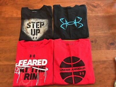 Lot Of Boys Under Armour Tees Size M