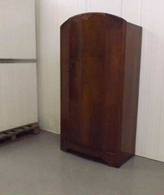 Vintage Mid Century Small Gentlemans / Childs  Wardrobe With Shelves