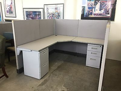 """6ft x 6ft x 52""""H CUBICLE/PARTITION SYSTEM by HERMAN MILLER AO2 - Local Only"""
