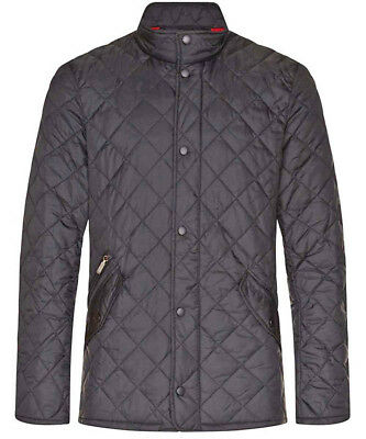 Barbour International Chelsea Jacket Coat Mens Medium Black £165