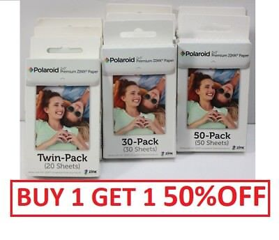 """POLAROID 2""""x3"""" Photo Paper Snap Touch Printer Film: 20 PACK, 30 PACK & 50 PACK"""