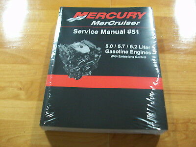 Mercury Mercruiser Service Manual #51 For 5.0/5.7/6.2 Liter W/ Emission Control