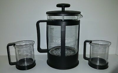 Starbucks Bodum French Press 6 Cup With 2 Coffee Cups 1647