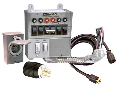 Reliance Controls 30 Amp 6-circuit Pro/Tran Transfer Switch Kit for Generators