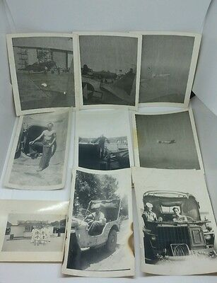 ** Vintage WW2 lot of (9) Original US Army Air Force Navy Photos **