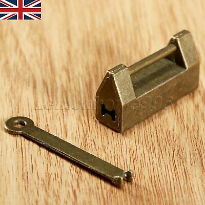 UK Unique Chinese Old Style Padlock Wedding Jewelry Box Padlock Lock Catch & Key