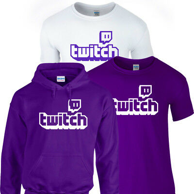 TWITCH TV Tshirt Tee Hoodie Hoody Adults Kids Purple Top Gamer Gaming Sports Fan