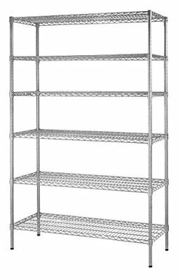 "Muscle Rack WS481872-Z  Steel Shelving Unit 6 Shelf 48"" Width 72"" Height 18"" ..."