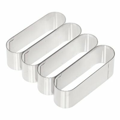 Ateco Stainless Steel Eclair Long John Multi Cutter Each Oval 5 X 1.5 X 1.75