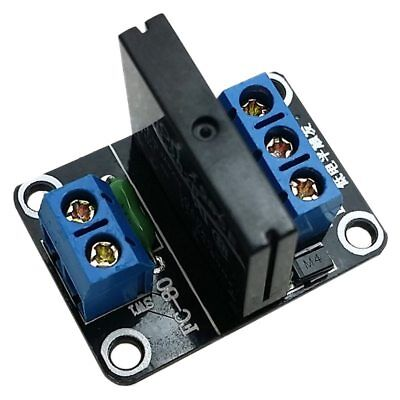 1 pcs black plastic 1 way 5V low level solid state relay module with fuse S B2F7