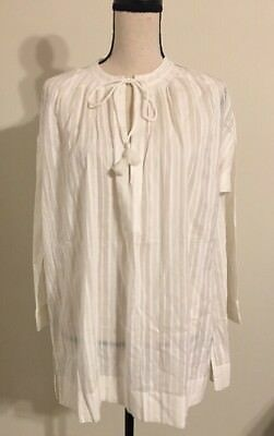 841869051ed NWT Madewell For JCREW  88 tahoe cover-up tunic dress SzXXS In Ivory C5309