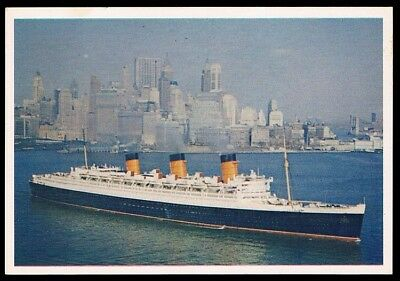 Sanitarium • 1964 • Famous Ships • Card #20 • S.S. Queen Mary